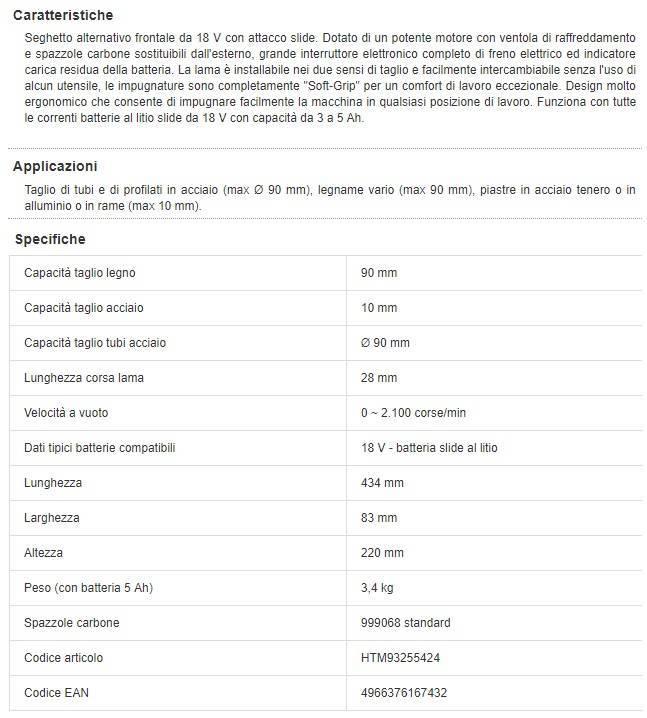 HiKOKI CR18DSL Seghetto Frontale 18 V